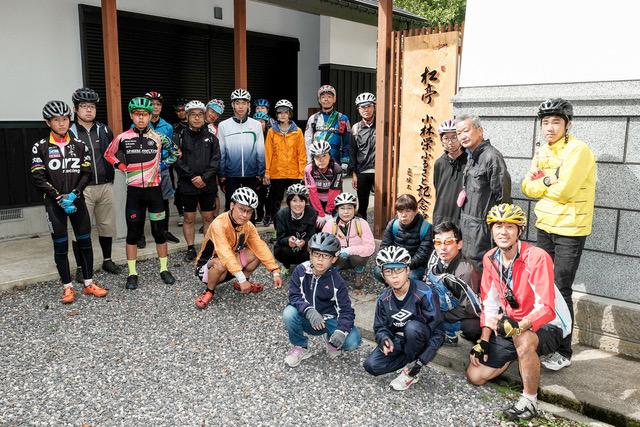 マウンテンバイクのジンギスカンカップIN磐梯高原に参加のツーリング一行が松亭小林栄ふるさと記念館と小林栄ゆかりの地を巡りました